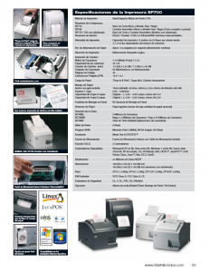 FICHA TECNICA Impresora Ticketera star SP742MU (2)