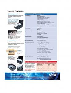 ficha tecnica Impresora Tickera Termica STAR BSC10UC (2)