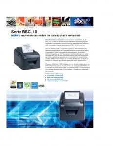 ficha tecnica Impresora Tickera Termica STAR BSC10UC