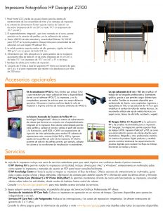 FICHA TECNICA IMPRESORA HP Designjet Z2100 (2)