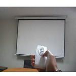 Pantalla De Proyeccion Electrica Control Remoto 4 0 X 3 0 Mt